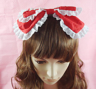 Lolita Jewelry Sweet Lolita Headwear Princess Pink Black Blue Red Lolita Accessories Headpiece Bowknot Solid For Cotton
