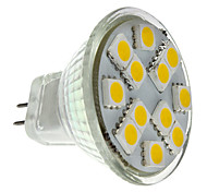 cheap -2W 160 lm GU4(MR11) LED Spotlight MR11 12 leds SMD 5050 Warm White DC 12V