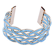 cheap -Women's Gold Plated Cuff Bracelet - White Orange Yellow Blue Bracelet For Party Daily Casual