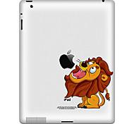 Недорогие -Lion Pattern Защитная наклейка для Ipad 1, Ipad 2, Ipad 3 и новые Ipad
