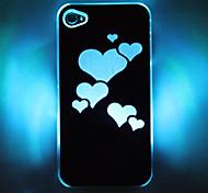 LED-Handy Flash-Herz-Muster Hard Case für iPhone 4/4S (verschiedene Farben)