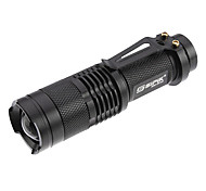 SK68 LED Flashlights / Torch Handheld Flashlights/Torch LED 200 lm 1 Mode Cree XR-E Q5 Cree Q3 Adjustable Focus Rechargeable Tactical