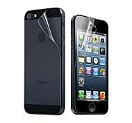 Трёхслойная прозрачная плёнка для экрана и задней части iPhone 5