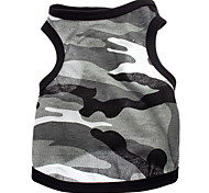 cheap -Dog Shirt / T-Shirt Dog Clothes Heart Camouflage Gray Cotton Costume For Pets