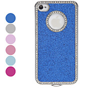 cheap -Diamond Frame Shimmering Powder Hard Case for iPhone 4/4S (Assorted Colors)