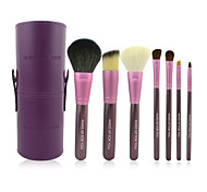 Make-up For You®7pcs Makeup Brushes set Horse/Pony/Goat Hair Portable/Limits Bacteria Purple Powder/Concealer/Blush brush Eyeshadow/Brow Brush