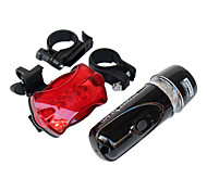 cheap -Front Bike Light Rear Bike Light LED Cycling Waterproof Backlight AAA Lumens Battery Cycling/Bike