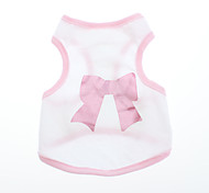 cheap -Dog Shirt / T-Shirt Dog Clothes Bowknot Pink Cotton Costume For Pets
