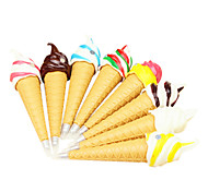 Ice Cream Shaped Black Ink Ballpoint Pen(Random Color) For School / Office
