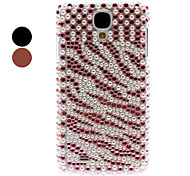 cheap -Rhinestone Decorated Tiger Stripe Pattern Hard Case for Samsung Galaxy S4 I9500