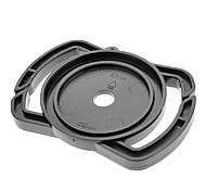 Универсальный 43mm / 52mm / 55mm Крышка объектива Держатель Пряжка для зеркальной камеры - черный