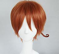 Cosplay Wigs Hetalia South Italy Chiara Vargas Brown Short Anime Cosplay Wigs 30 CM Heat Resistant Fiber Male