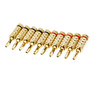 Banana Plug Male Gold-Plated (5 pairs)