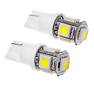 abordables -SO.K 2pcs T10 Coche Bombillas SMD 5050 100-120lm Luz de Intermitente For Universal