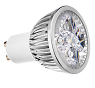 4W GU10 LED Spotlight MR16 4 leds Cold White 400lm 6000K AC 220-240V