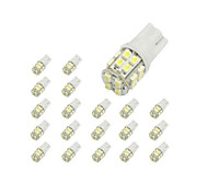cheap -10 x T10 20-SMD 1210 White LED Car Lights Bulb 194 168 2825 W5W
