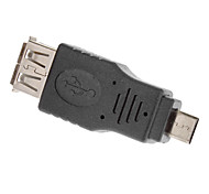 Micro USB Male to USB Female Adapter for Cell Phone(Black)
