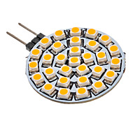 G4 GU4(MR11) LED Spotlight 30 leds SMD 3528 Warm White 90-110lm 3000K AC 12V