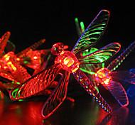 Solar Garden Lights 30 Multi Colorful Dragonfly LED Lights