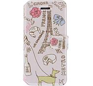 Жизнь вокруг Эйфелевой башни шаблон PU Полный Дело Корпус с карты памяти и стенд для iPhone 5/5S