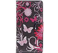 Pour Coque LG Portefeuille Porte Carte Avec Support Clapet Coque Coque Intégrale Coque Papillon Dur Cuir PU pour LG LG G3