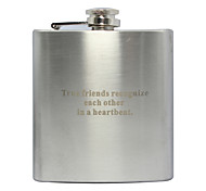 Personalized Father's Day Gift Curve 6oz Metal Flask