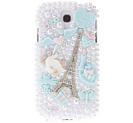 cheap -For Samsung Galaxy Case Rhinestone / Pattern Case Back Cover Case Eiffel Tower PC Samsung S4