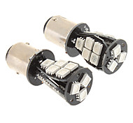 abordables -2pcs BAY15D(1159) Coche Bombillas SMD 5050 Luz de Intermitente For Universal