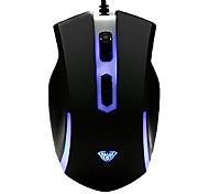 abordables -Multi-llaves Súper Dazzle LED Gaming Wired Mouse PS / 2 DPI instantánea Conmutación