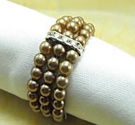 Недорогие -Многие Цвет Pearl Кристалл Салфетка кольцо, Перл, кристалл, 4,5 см, набор из 12,