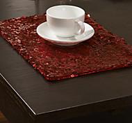 Недорогие -Набор из 4 Современная Красная Placemats Блестки
