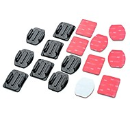 cheap -Adhesive Mounts Flat Adhesive Pads Curved Adhesive Pads For Action Camera Gopro 5/4/3/3+/2/1 Universal Auto Military Snowmobiling