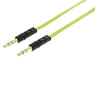 cheap -YG-35 3.5mm Male to Male Audio Connection Flat Cable (Green&Black, 1M)