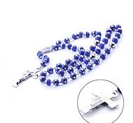 Недорогие -Персональный подарок из нержавеющей стали и силикона ожерелье цепь свитер цепи
