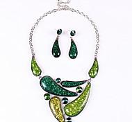 Недорогие -сплав элегантных Высший сорт женщин (ожерелья и серьги) драгоценный камень комплект ювелирных изделий (больше цвета)