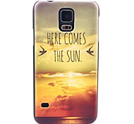 Here Comes The Sun Pattern Hard Case Cover for Samsung Galaxy S5 I9600