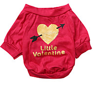 cheap -Dog Shirt / T-Shirt Dog Clothes Breathable Heart Rose Costume For Pets
