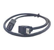 cheap -GPS Mini USB 5Pin 90 Degree Down Direction Angled Male to Female extension cable 50cm