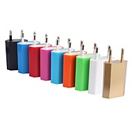 cheap -Home Charger Portable Charger Phone USB Charger EU Plug 1 USB Port 1A AC 100V-240V For Cellphone