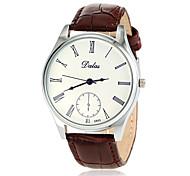cheap -Men's Wrist watch Japanese Quartz Casual Watch PU Band Minimalist Black White Blue Brown