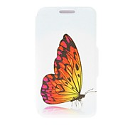 For LG Case with Stand / Flip Case Full Body Case Butterfly Hard PU Leather LG