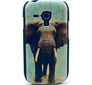 cheap -For Samsung Galaxy Case Pattern Case Back Cover Case Elephant PC Samsung S3 Mini
