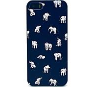 caso duro iphone 7 mais elefantes indianos padrão para iPhone 5 / 5s