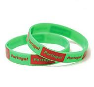 Motif de drapeau du Portugal Coupe du monde 2014 Silicone Bande de poignet