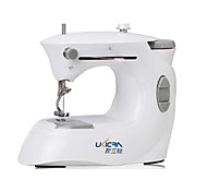 Portable Mini Sewing Machine With Foot Controller - White (4Xaa)