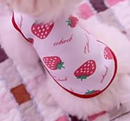 Прекрасный Клубника и Медведь Pattern жилет футболка Собаки (разных цветов Размеры)