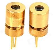 baratos -Tripé Laser Cabeça w / 650nm 5mW Focando tubo de lançamento para Freescale Smart Car - Golden (2PCS)
