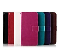 Solid Color PU Leather Case for HTC M8 Mini (Assorted Colors)