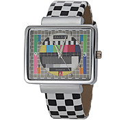 Unisex Square Dial Grid Pattern Pu Band Quartz Analog Wrist Watch (Assorted Colors) Cool Watches Unique Watches Strap Watch