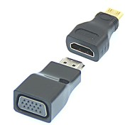 2 in 1 1080P Mini HDMI/HDMI to VGA Video Converter Adapter
